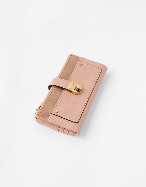 Freya Push Lock Wallet , Nude (NUDE), large