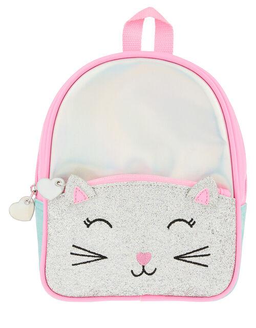 Glitter Cat Mini Backpack, , large