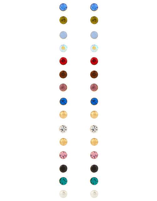 15x Multi Stone Stud Earrings Pack, Multi (BRIGHTS-MULTI), large