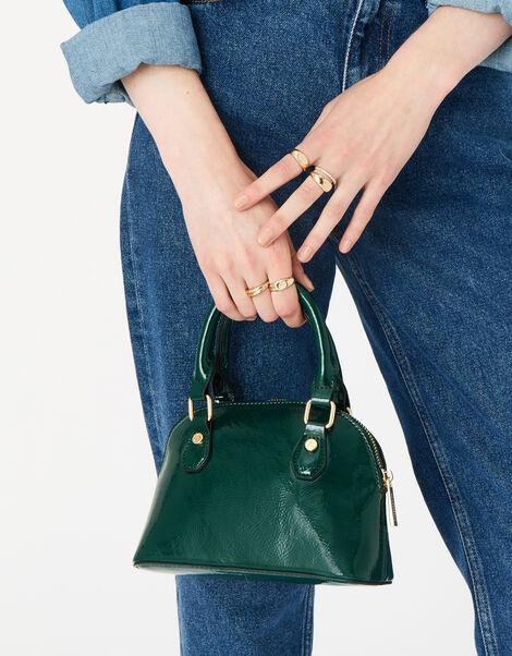 Nikki Patent Handheld Bag  Green, Green (GREEN), large