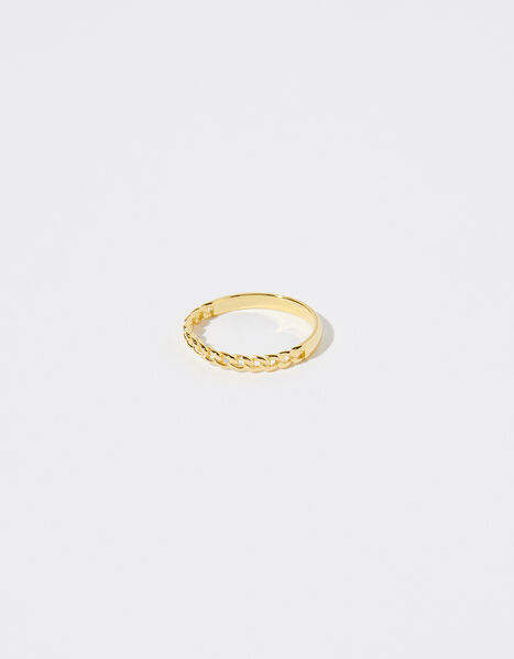 Gold Vermeil Curb Links Ring Gold, Gold (GOLD), large