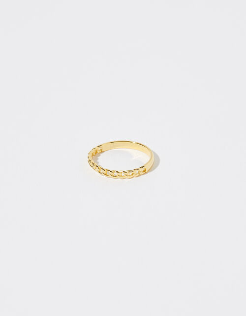 Gold Vermeil Curb Links Ring, Gold (GOLD), large