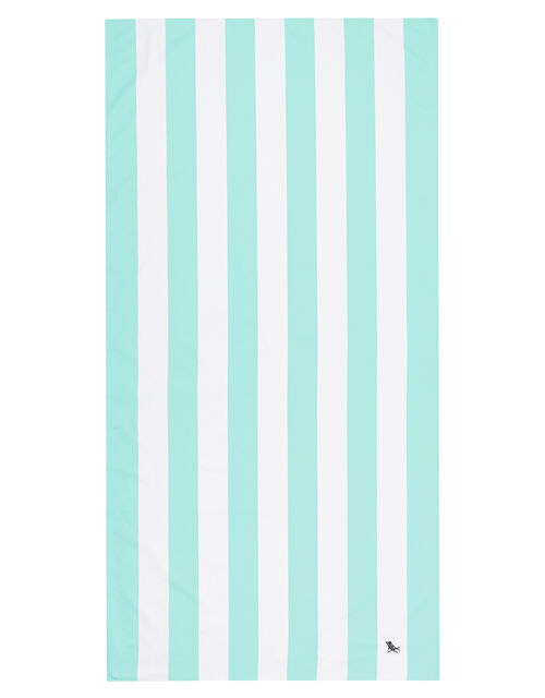 Dock And Bay Striped Beach Towel, Green (GREEN), large