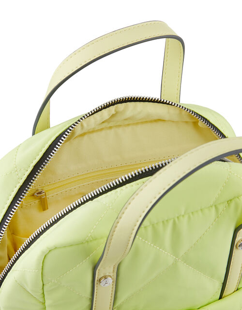 Mini Emmy Vegan Quilted Backpack, Green (LIME), large