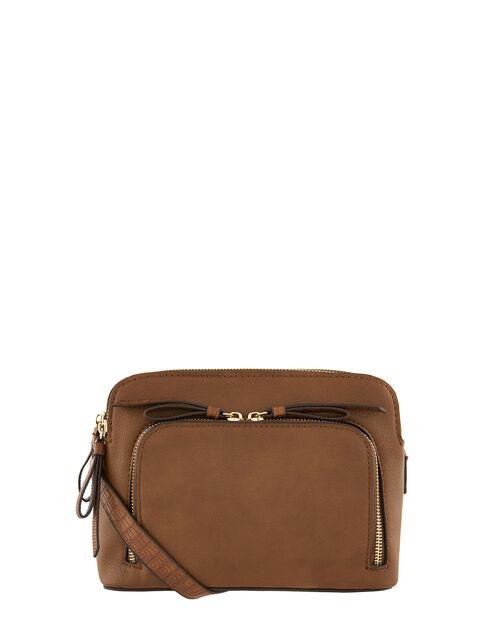 Taylor Vegan Cross Body Bag, Tan (TAN), large