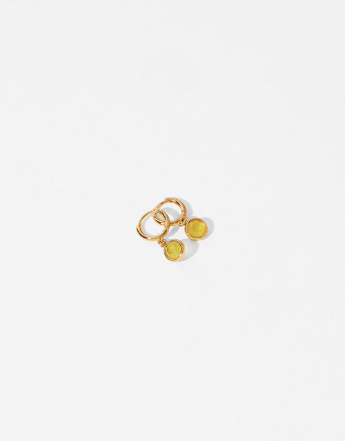 Gold-Plated Birthstone Earrings - November, , large