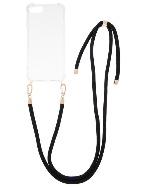 Cord iPhone Necklace, Black (BLACK), large