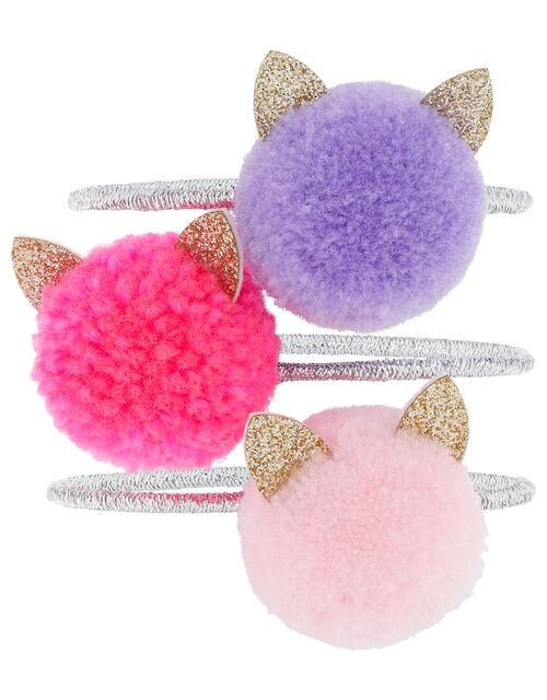 Cat Pom-Pom Hair Band Set, , large