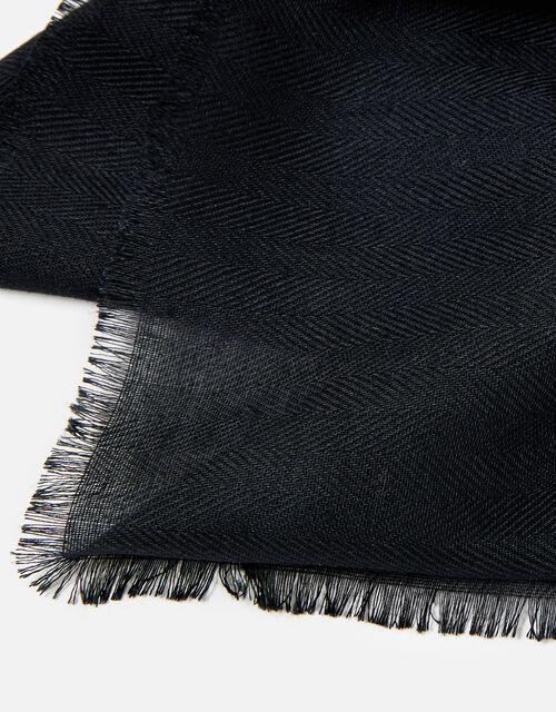 Sorrento Lightweight Scarf, Black (BLACK), large