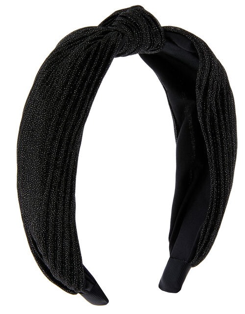Wide Alice Hair Band, Black (BLACK), large