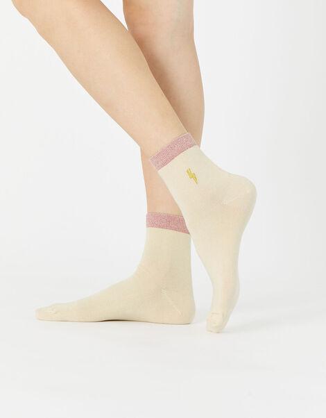 Embroidered Lightning Bolt Sock, , large