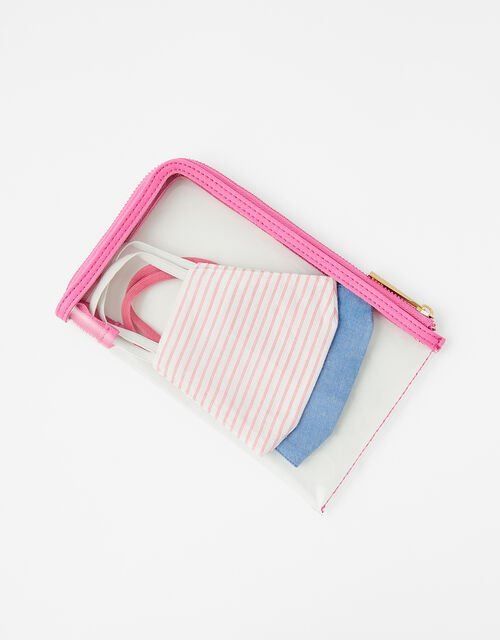 Large Face Covering Pouch Bag, Pink (PINK), large