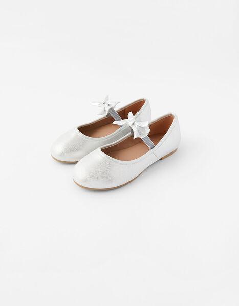 Bow Ballerina Flats Silver, Silver (SILVER), large