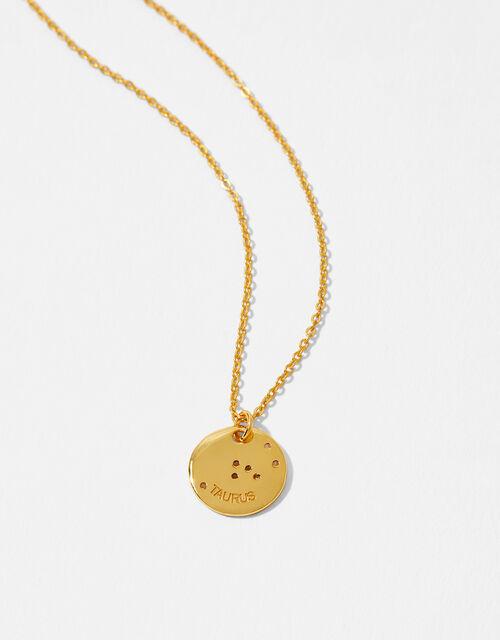 Gold Vermeil Constellation Necklace – Taurus, , large