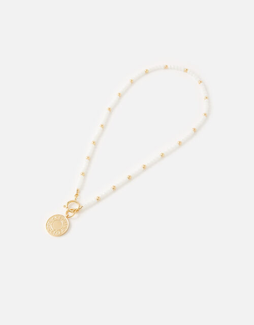 St Ives Kendra Beaded Coin Necklace, , large