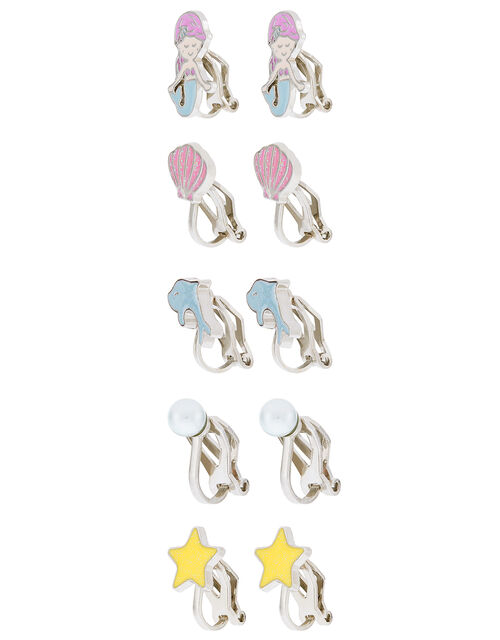 Mermaid Clip-On Earring Multipack, , large