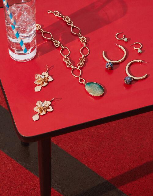 Cassie Ceramic Bead Hoop Earrings, , large
