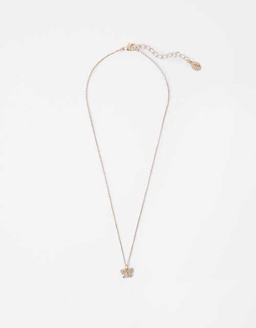 Sparkle Butterfly Pendant Necklace, , large
