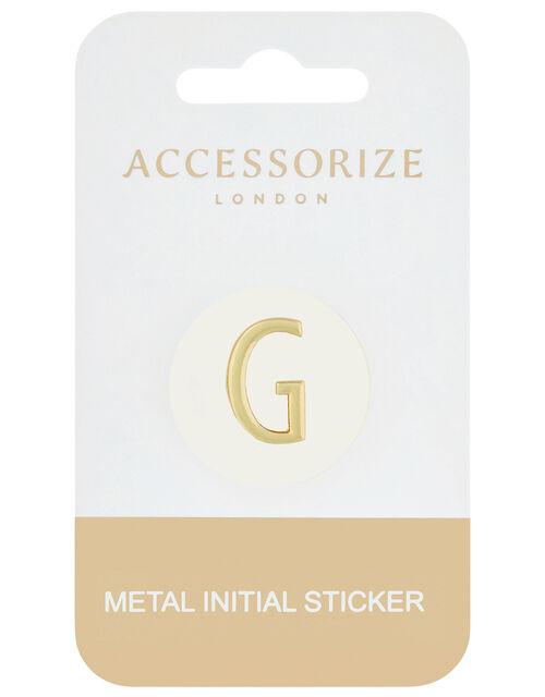 Metallic Initial Sticker - G, , large
