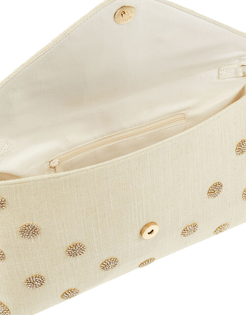 Diamante Polka-Dot Oversized Clutch Bag, , large
