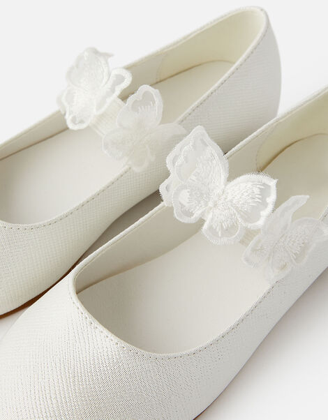 Butterfly Ballerina Flats Natural, Natural (IVORY), large