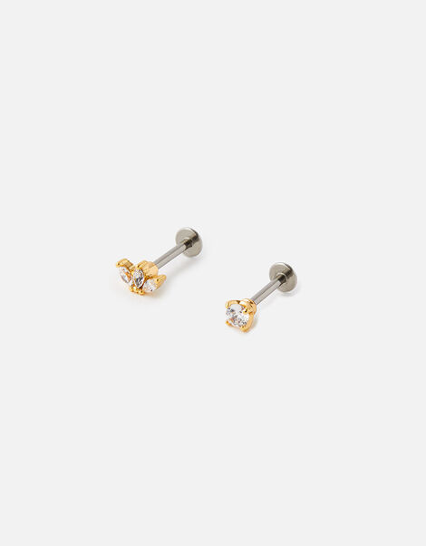 Crystal Flat-Back Studs, , large