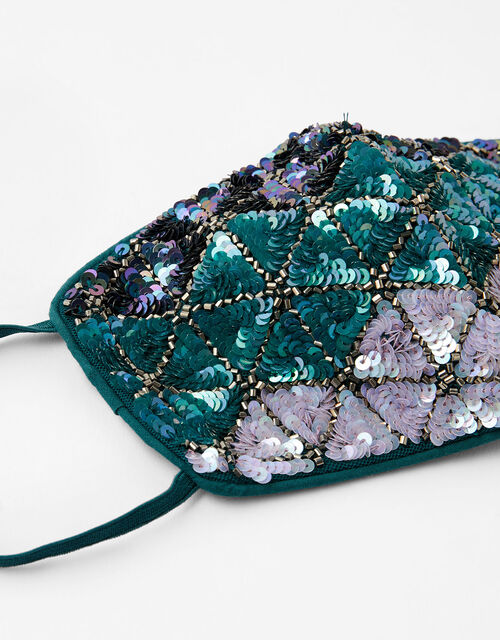 Mermaid Embellished Face Covering, Multi (BRIGHTS-MULTI), large
