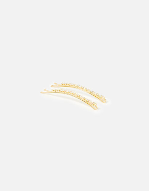 Baguette Diamante Hair Grips, , large