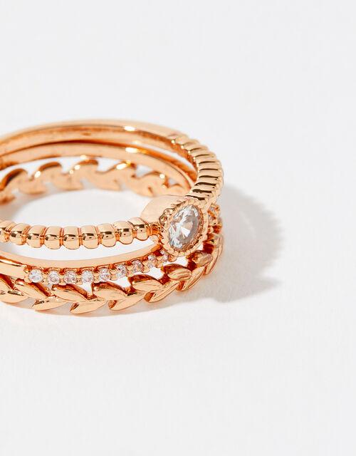 Rose Gold-Plated Vine Ring Set, Gold (ROSE GOLD), large