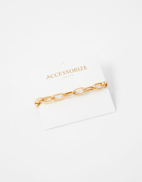 Simple Medium Chain Bracelet, Gold (GOLD), large