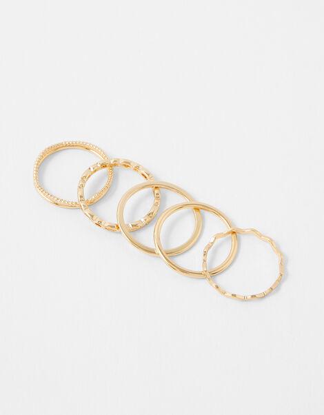 Fine Stacking Rings with Recycled Metal Gold, Gold (GOLD), large