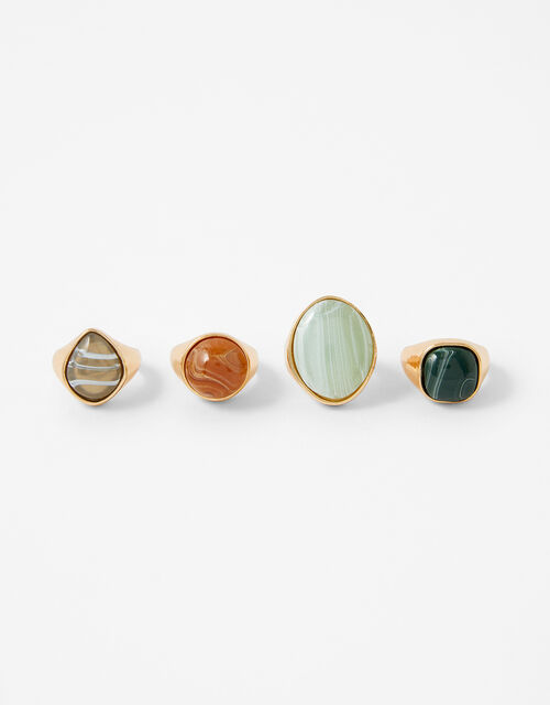 Stone Ring Set, Multi (DARKS-MULTI), large