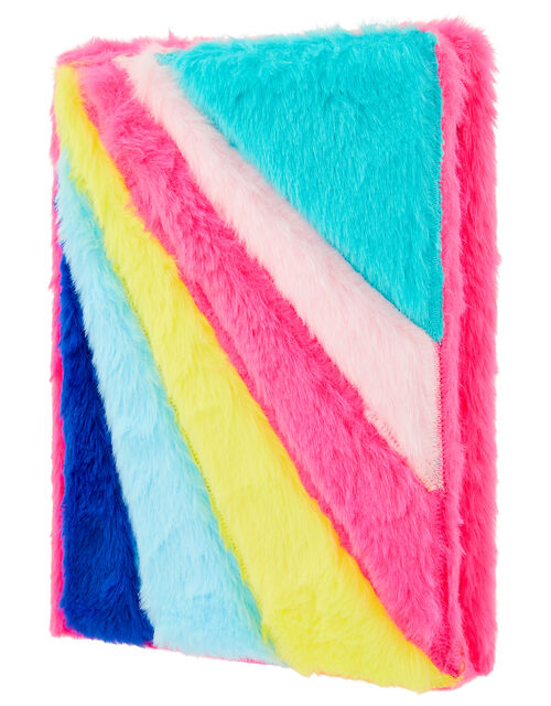 Rainbow Fluffy Notebook, , large