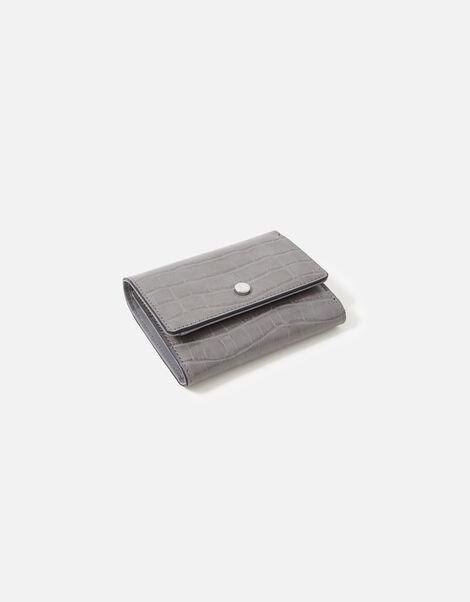 Stella Croc Purse  Grey, Grey (GREY), large