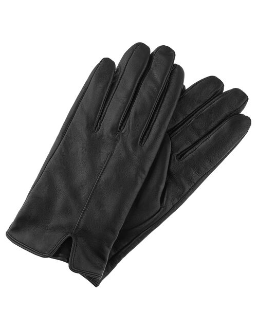 Leather Gloves, Black, large