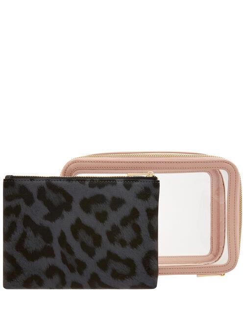 Clear Makeup Case Set, , large