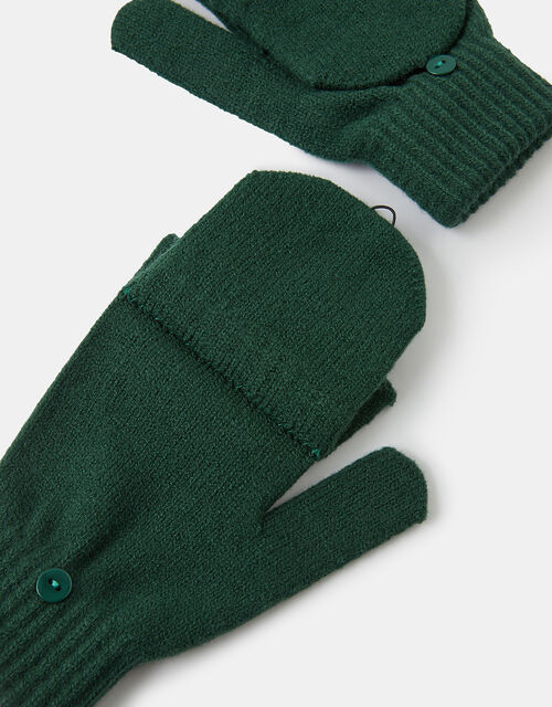 Plain Capped Gloves, Green (GREEN), large