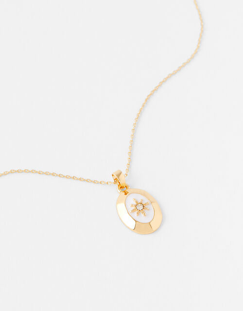 Star Coin Pendant Necklace, , large