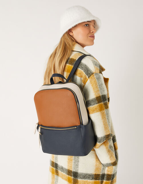 Amy Colour-Block Backpack, , large