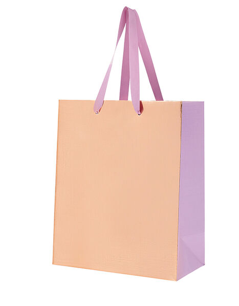 Medium Metallic Gift Bag with Bow, , large