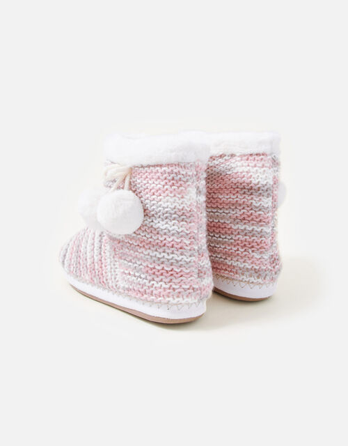 Knitted Slipper Boots, Multi (PASTEL-MULTI), large