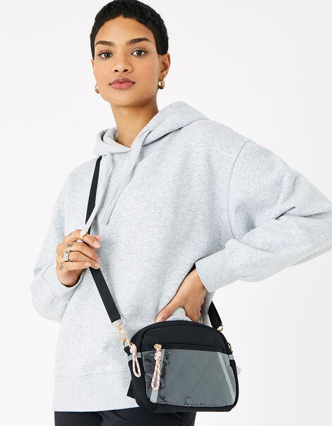Quilted Cross-Body Bike Bag , , large
