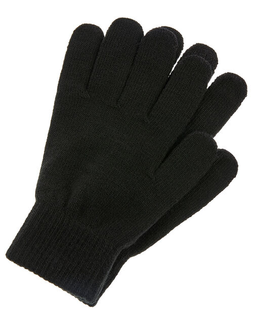 Super-Stretchy Touchscreen Gloves, Black (BLACK), large
