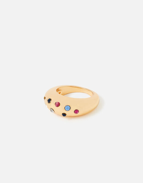 New Decadence Diamante Chubby Ring, Multi (BRIGHTS-MULTI), large