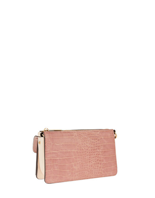 Melody Colour-Block Cross-Body Bag, Pink (PINK), large