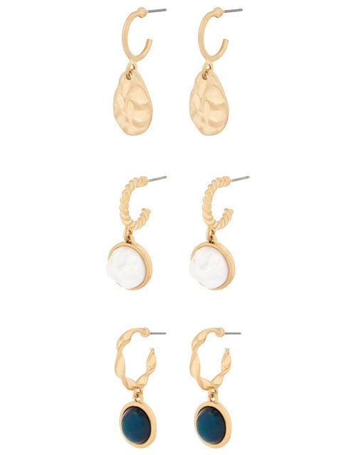Charmy Huggie Hoop Earring Set, , large