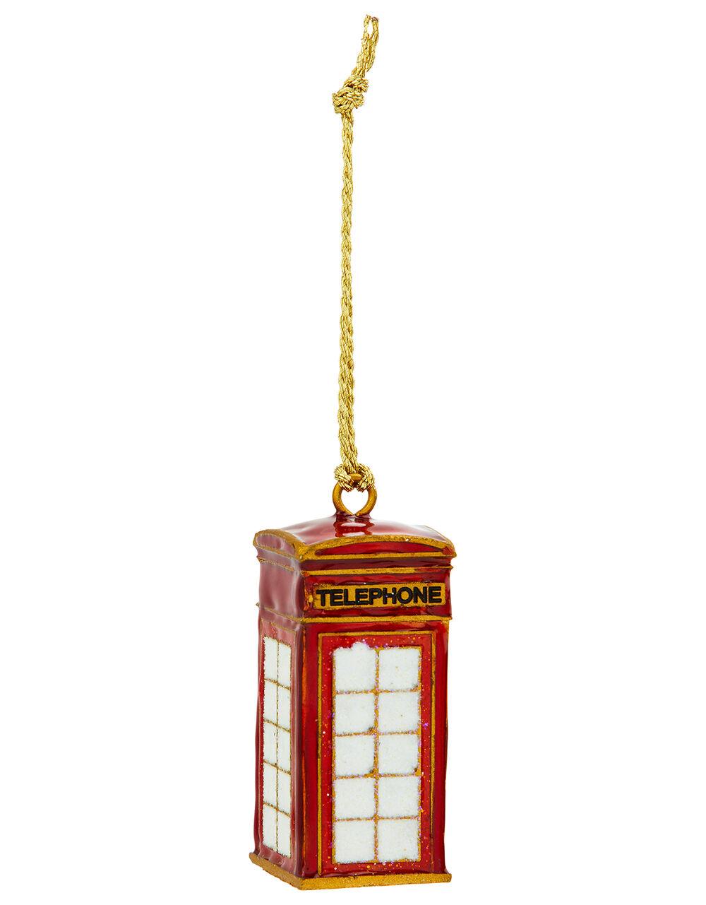 London Telephone Box Hanging Decoration, , large