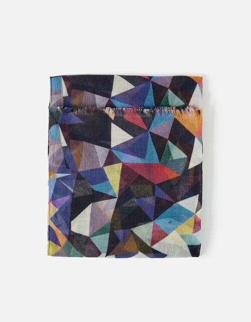 Mosaic Print Scarf , , large