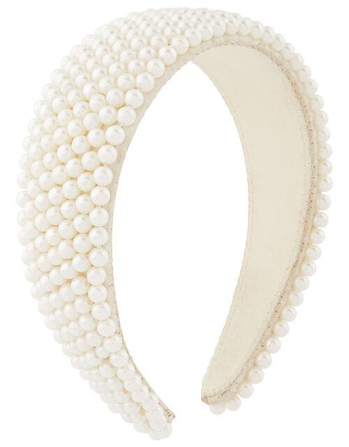 Pearly Bridal Padded Headband, , large