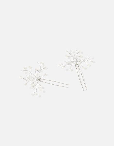 BRIDAL Sparkly Vine Hair Grips, , large